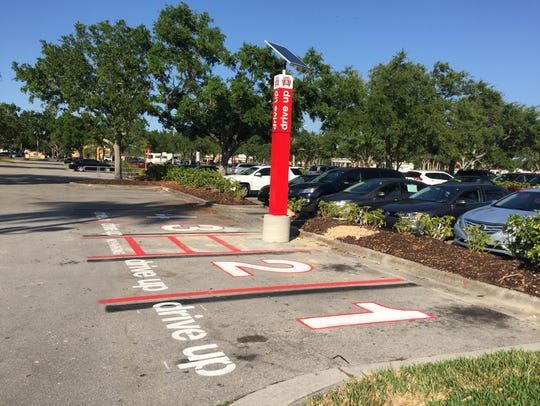 A parking lot at a Target store in North Naples shows