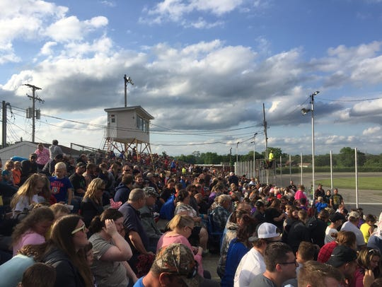 The 2,500-capacity Galesburg Speedway was sold out
