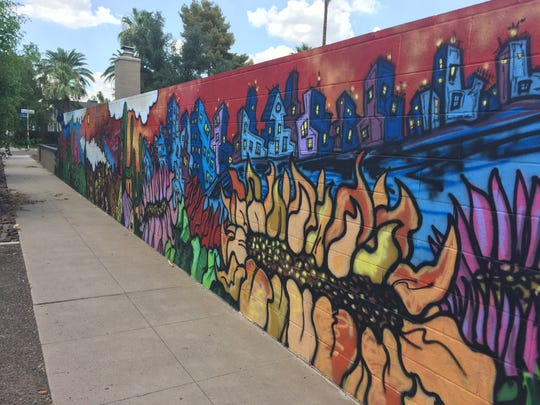 A mural off of Coronado Road and Fifth Avenue lines the wall of a home in the Willo Historic District in Phoenix.