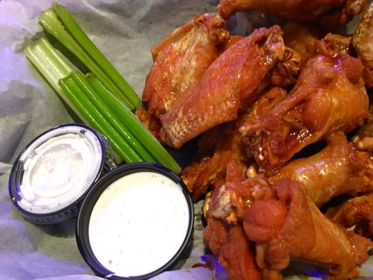 The east/west-flavored wings at Rusty's Raw Bar and