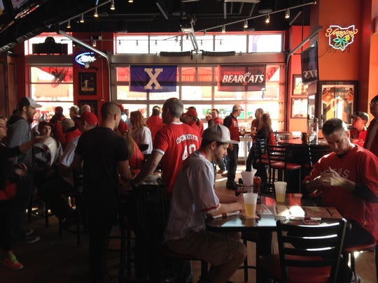 Fans inside the Holy Grail during Opening Day 2014.