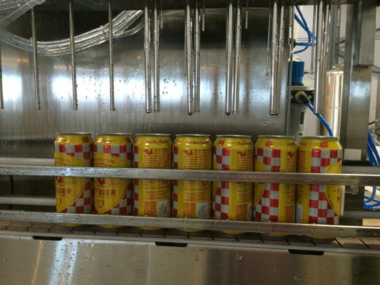 It takes about three hours to fill cans during a typical run. Once filled all cans are packaged by hand into four-packs.