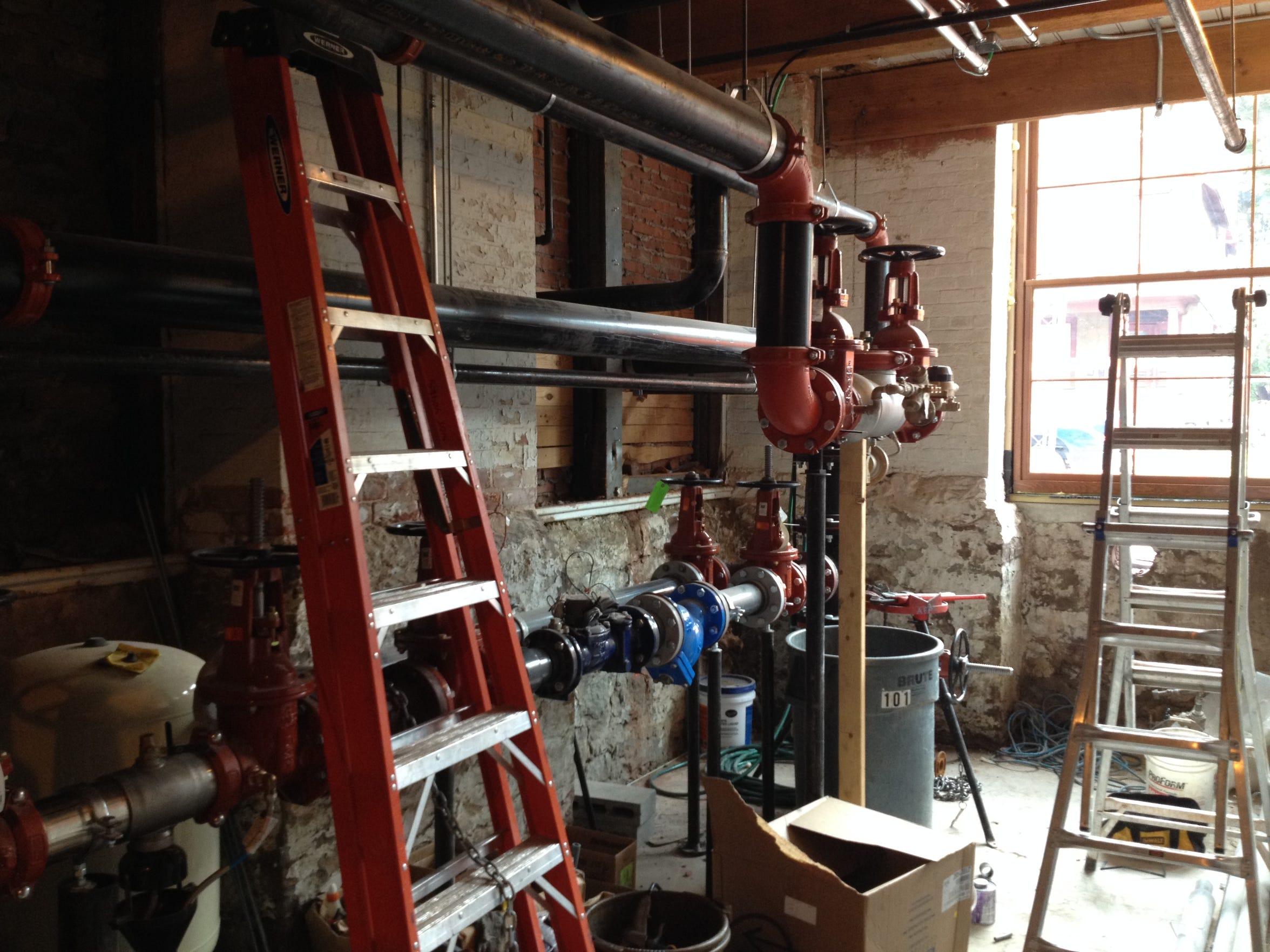 Renovation at Button Lofts.