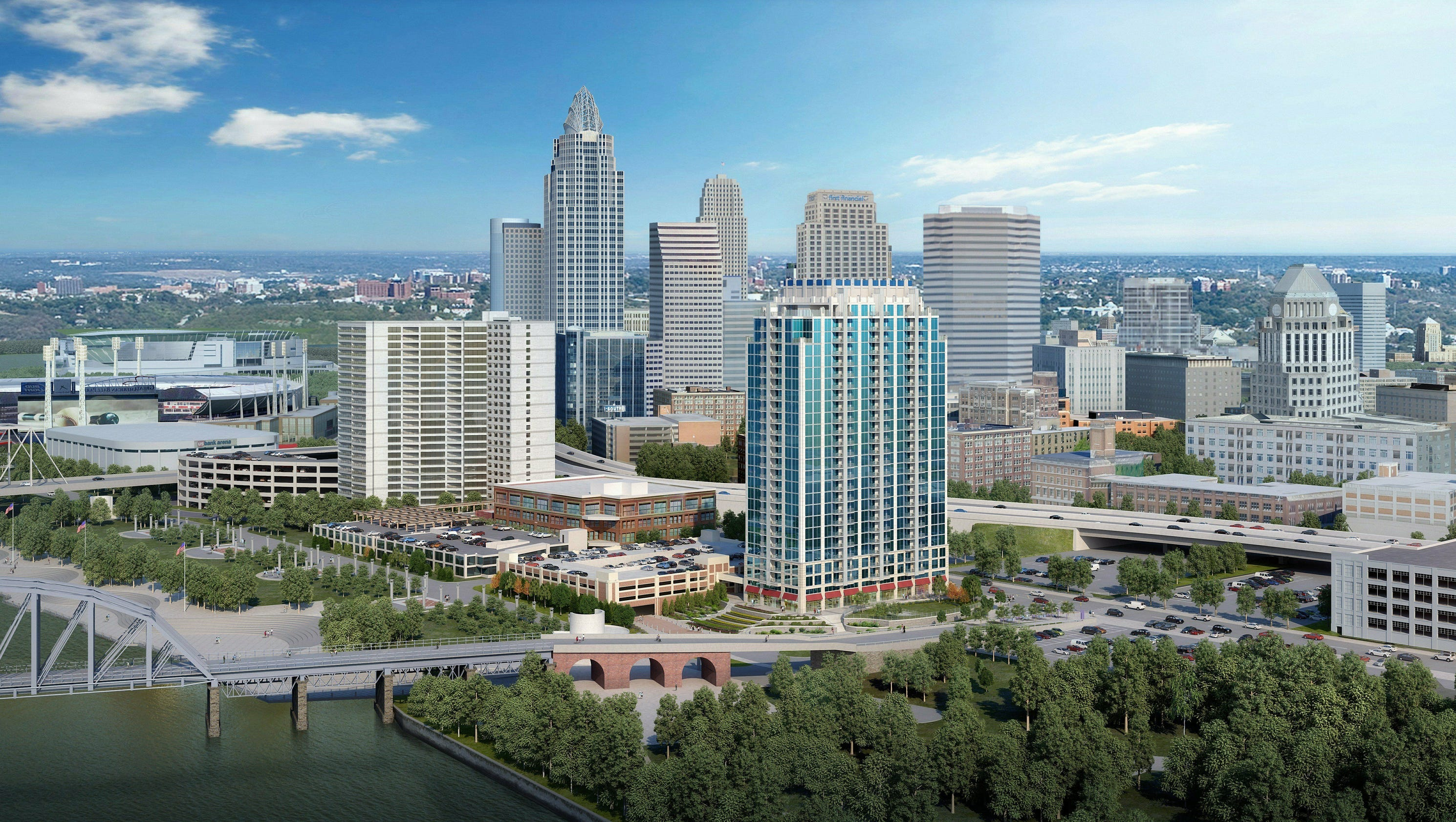 Panel Oks 90m Riverfront Apartment Tower Concept