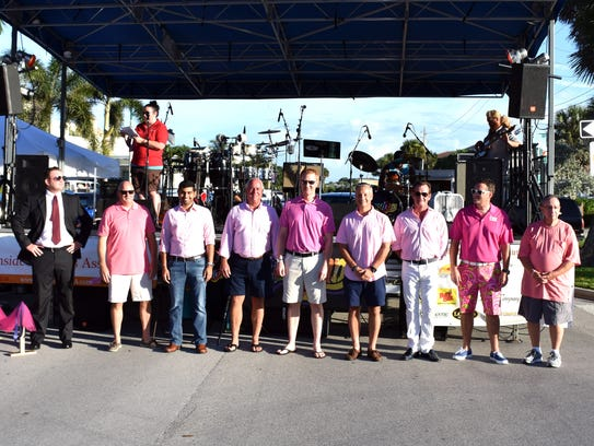 Some of the 17 Real Men Wear Pink participants.