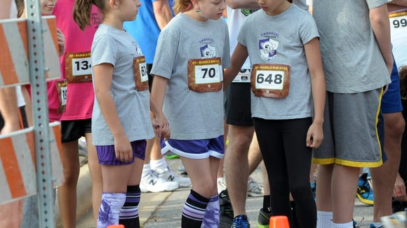Kids take part in a past Ramble Run at Biltmore Park. The Ram Run 5K to benefit Valley Springs Middle School March 7 also took place in Biltmore Park.