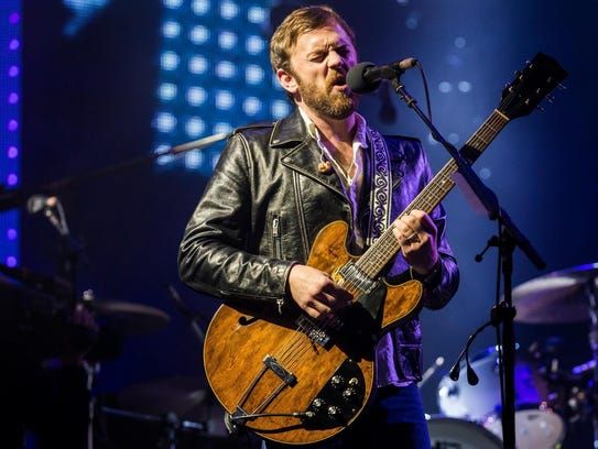 Caleb Followill, Kings of Leon lead singer, performs