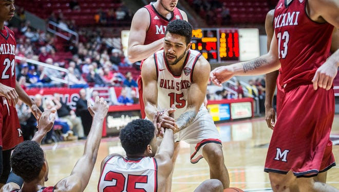 Ball State defeated Miami at Worthen Arena Tuesday, Jan. 10, 2016.
