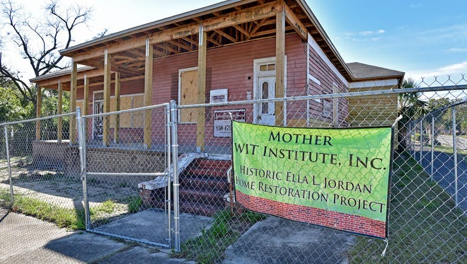 The Ella L. Jordan House is being restored to its former glory.