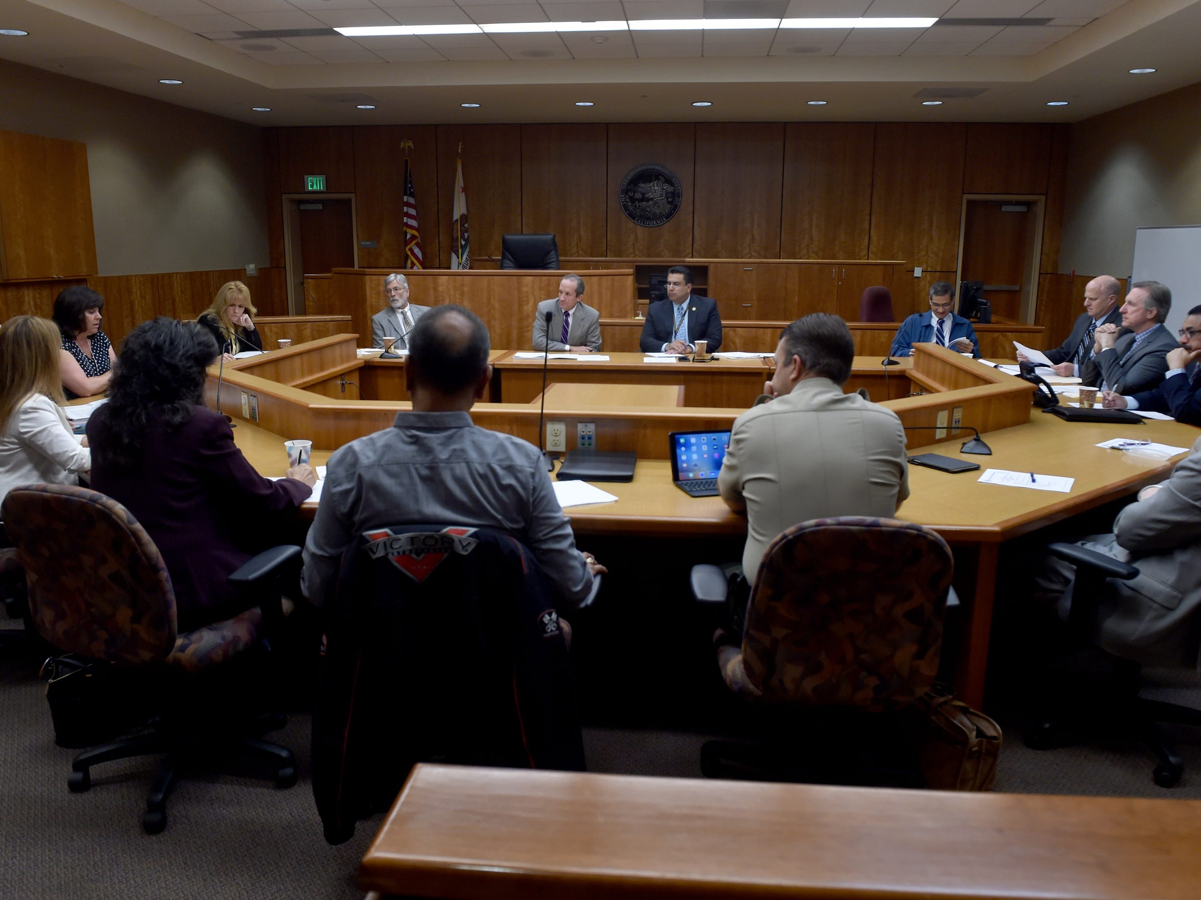 Members of the of the Juvenile Justice Coordinating Council meet at Ventura County Juvenile Court.