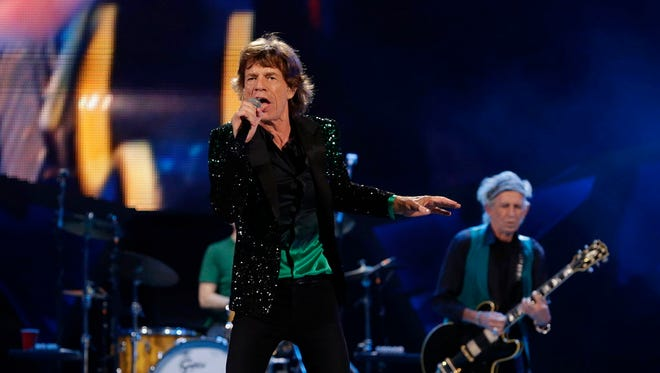 The Rolling Stones perform at Summerfest at the Marcus Amphitheater in Milwaukee on June 23, 2015.