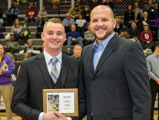John Lamb, class of 2007, received his hall of fame