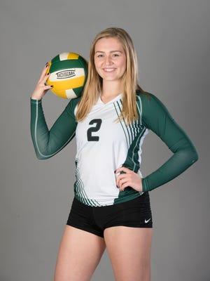 Ellen Floyd - volleyball - Catholic High School - 2017-Fall-All Area Athlete - portrait in Pensacola on Tuesday, November 14, 2017.