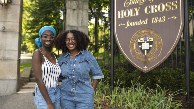Dorean Asuako and Sienna Ablorh, who will be seniors at Holy Cross in the fall, have compiled a list of 126 Black-owned businesses around Worcester.