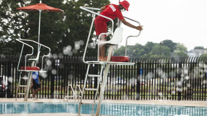 Lifeguards have been busy this summer wipinge down surrounding surfaces at Crompton Park Pool.