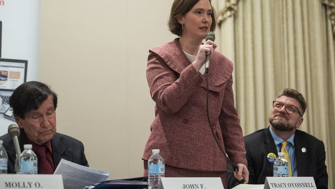"""Discretion does mean you have students being subject to bias,"" said Tracy OíConnell Novick,  seen here in a 2019 photo, who cast the lone vote against approving the amended dress code."