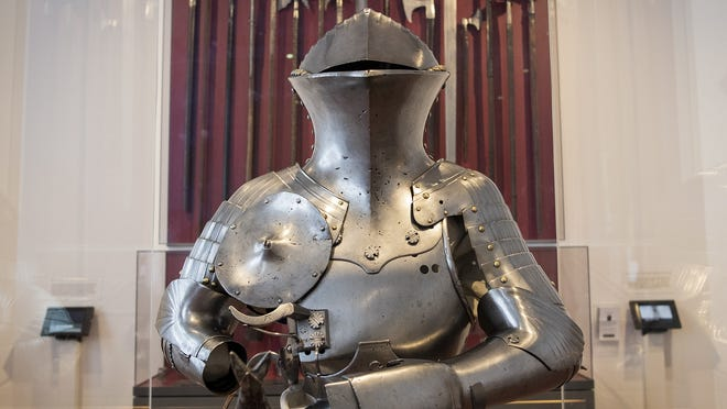 A suit of armor from the former Higgins Armory Museum is part of the collection now at the Worcester Art Museum. WAM received $250,000 from the Institute for Museum and Library Services toward a long-term installation of the John Woodman Higgins Armory Collection of arms and armor.