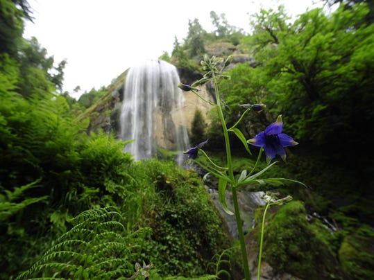 Golden Falls and Silver Falls