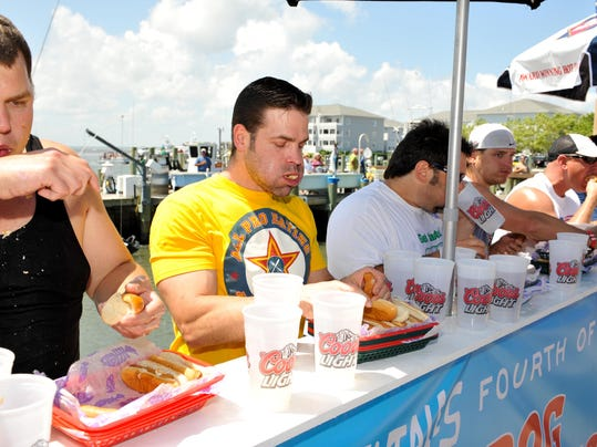 First Prize Hot Dog Eating Contest