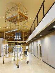 The second floor and third floor mezzanine work area