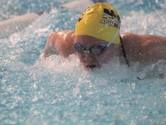 Notre Dame junior Allie Piccirillo swims the butterfly