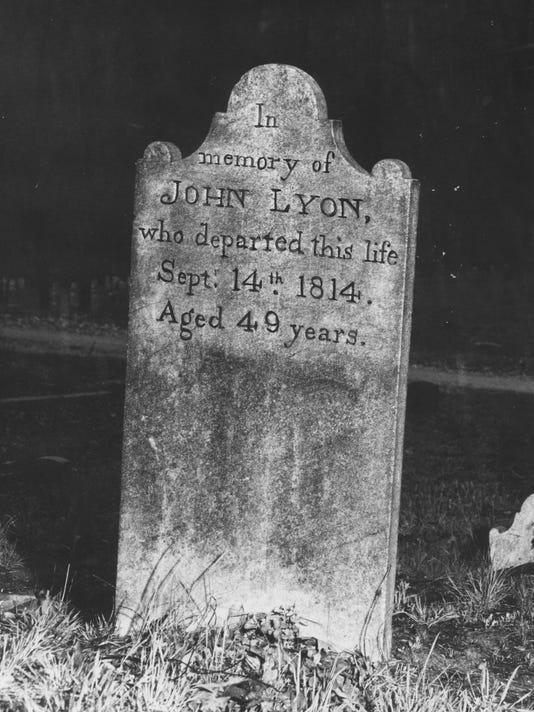 John Lyon grave in Riverside Cemetery