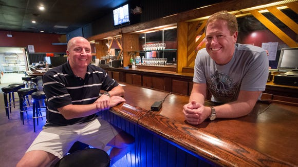 Grain Craft Bar+Kitchen owners Jim O'Donoghue (left) and Lee Mikles are preparing to open the old Mojo Main in Newark this July.