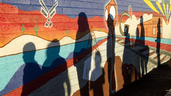 More than 150 children in foster care created a mural near 57th Drive and Grand Avenue in Glendale with artist Oliverio Balcells as part of the Professional Artists Series program offered by Free Arts.