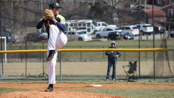 Logan Collie is 7-1 as a pitcher for Asheville Christian