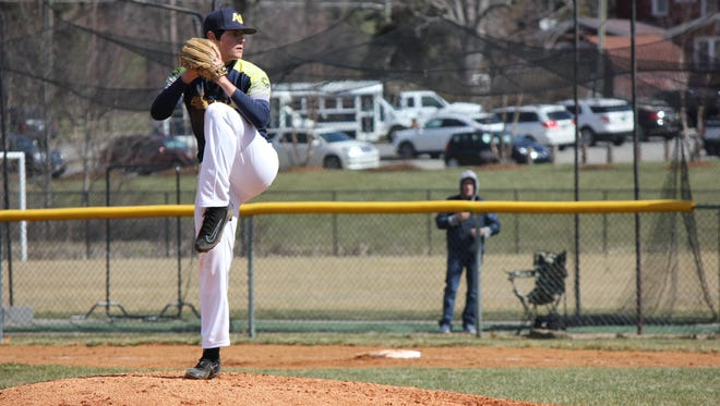 Logan Collie is 7-1 as a pitcher for Asheville Christian Academy this baseball season.