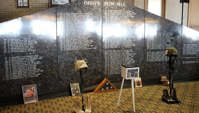 Veterans from Ohio that were prisoners of war or missing in action during the Vietnam War are remembered and honored with this memorial by Rolling Thunder Inc., Chapter 5 Ohio.