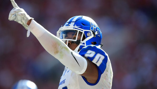 Middle Tennessee State Blue Raiders safety Kevin Byard (20).