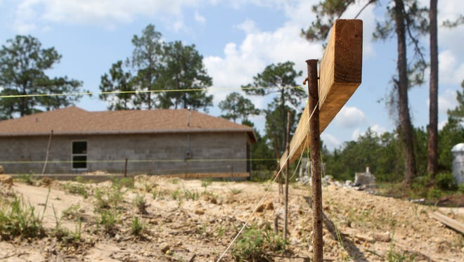 Bagans construction is working on a few homes in Lehigh Acres. The city's real estate market is starting to show signs of life.