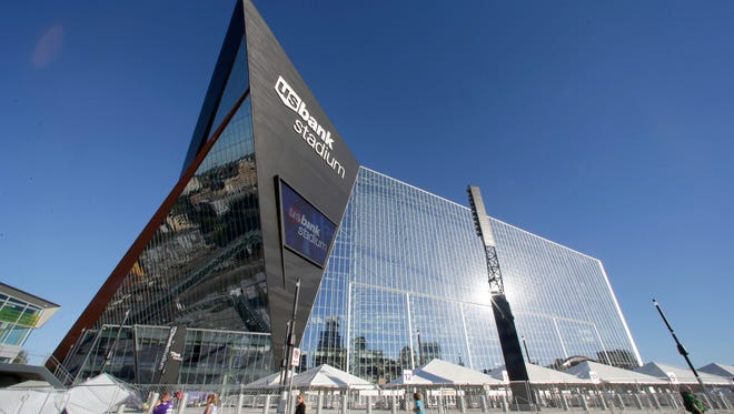 U.S. Bank Stadium is the new home of the Minnesota Vikings, who will host the Green Bay Packers on Sunday night.