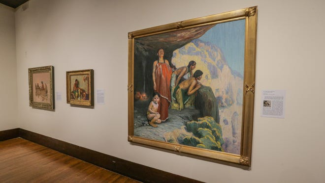 """This painting is part of the new exhibition """"Titan of the West: The Adams Collection of Western and Native American Art """" at The Eiteljorg Museum of American Indians and Western Art."""