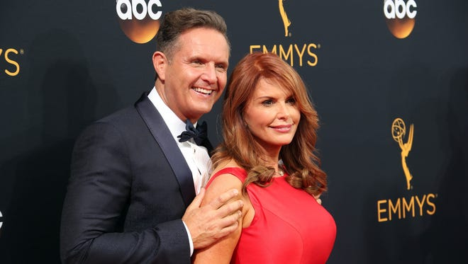 Producer Mark Burnett, left, and actress Roma Downey are launching a 24/7 faith-and-family TV network in December.