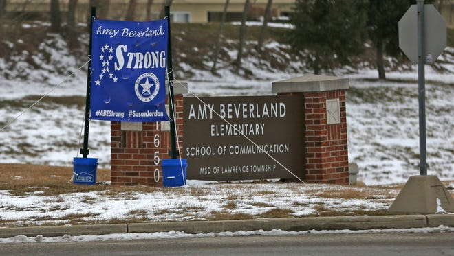 Amy Beverland Elementary in February 2016. Longtime Principal Susan Jordan was killed in a bus accident at the school in January.