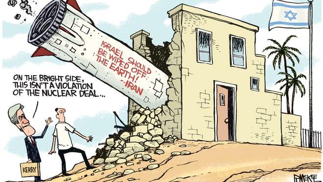 Rick McKee, The Augusta Chronicle, drew this Desert Sun editorial cartoon for March 14, 2016.