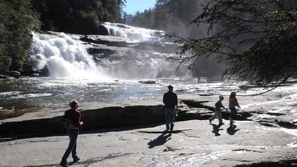 DuPont State Recreational Forest is known for its stunning waterfalls and hiking and mountain bike trails. The Jus' Running DuPont 12K Trail Race March 26 was a fundraiser for the nonprofit Friends of DuPont.
