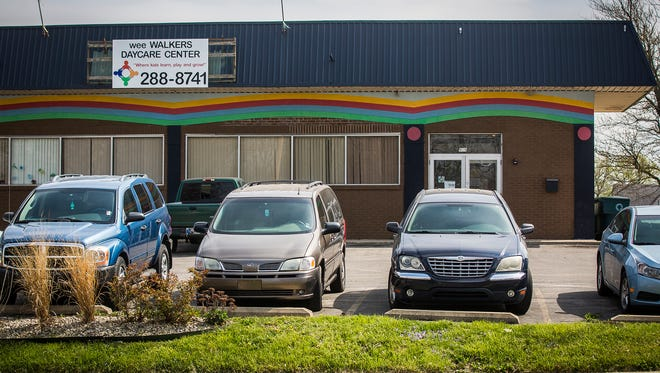 The exterior of the wee Walkers Daycare Center in Muncie Tuesday.