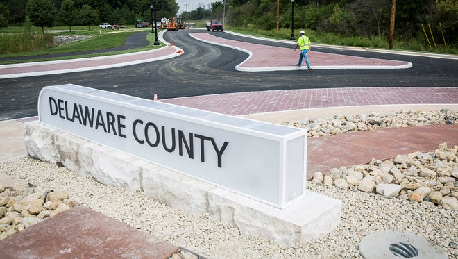 The Jackson Street and Nebo Road roundabout is set to be completed and open after lines are painted Friday.