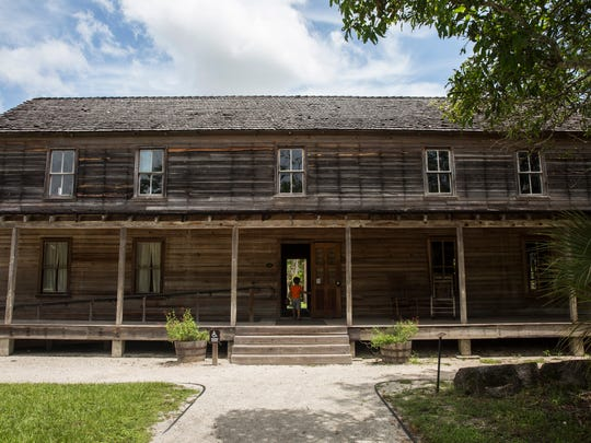 Landon Cahill, 6, of Fort Myers, enters the Founders Residence at the Koreshan State Historic Site in Estero, Florida, on July 27, 2016. The site contains areas of pine flatwoods habitat, a nature walk and the settlement of a religious colony, the Koreshan Unity, whose last members deeded the land to the state in 1961.