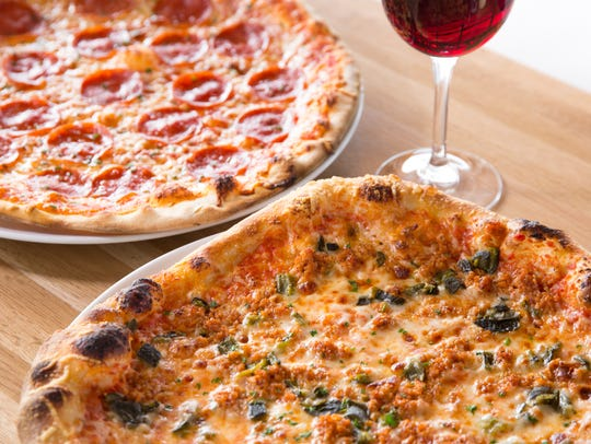 Create your own pizza with various toppings and crusts