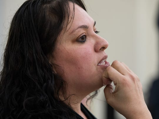 Linda Lugo, a Del Mar College adjunct instructor who is deaf, leads an American Sign Language course for Spanish speakers Tuesday, Feb. 20, 2018, at Del Mar College's West Campus Health Sciences Building 2. Lugo started teaching the class when her deaf students at Webb Elementary School told her they were having trouble communicating with their family members.