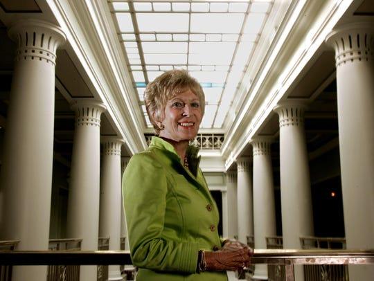FILE - Nashville philanthropist Martha Ingram checks out the new Schermerhorn Symphony Center on Aug. 15, 2006.