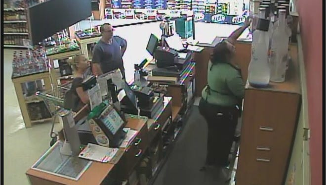 These two suspects spent hundreds of dollars with a cloned debit card