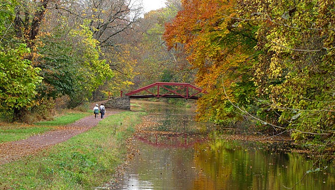 Those with an outdoorsy spirit can wander the Delaware Canal Towpath from the park.