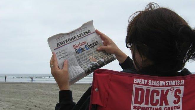 Relaxing on the beach on Coronado Island in California in 2010 before an earthquake hit.