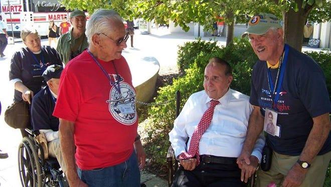 Participants in a Twin Tiers Honor Flight trip to Washington, D.C. last year have a chance to meet former  U.S. Senator and World War II veteran Bob Dole.