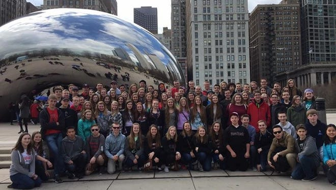 The Fine Arts Department of Manitowoc Lutheran High School recently attended the WorldStrides Heritage Festival of Music in Chicago. At the competitive festival, schools from 11 states and Wisconsin participated, including 90 Lancers and 11 chaperones. The symphonic band earned a gold rating and second place in the concert band category. The concert choir earned a silver rating and was second in concert choir. Lancer Singers earned a gold rating and was first in concert choir.
